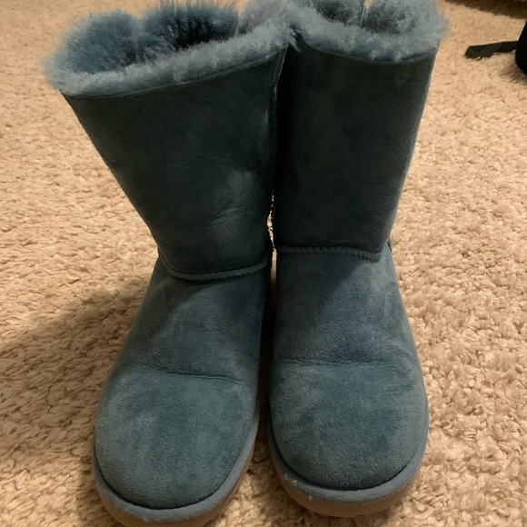 UGG Shoes   Light Blue Bailey Bow Uggs